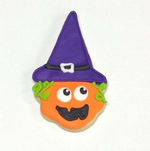 Jack O Lantern With Witch Hat