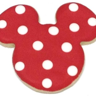 Mickey Cutout With Big Dots  Red Alternate