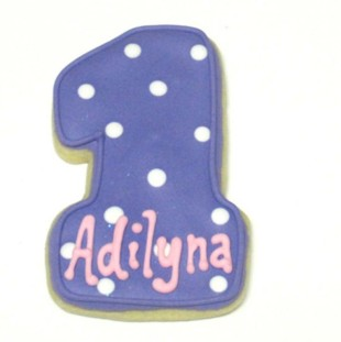 Number One  Polka Dot With Name