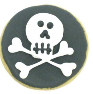 Skull & Crossbones On Circle
