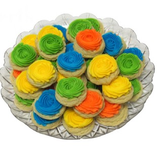Buttercream Button Cookie Tray