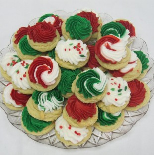 Traditional Holiday Button Tray