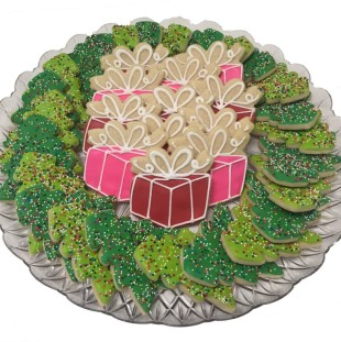 Tree & Presents Tray Large
