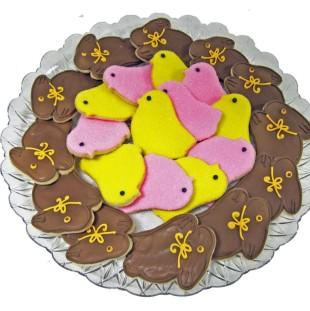 Chocolate Bunnies And Peeps